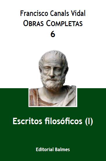Obras Completas F. Canals Vidal, vol. 6